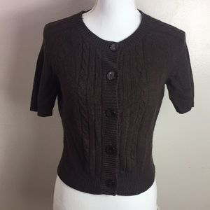 Ann Taylor Wool Cashmere Short Sleeves Sweater